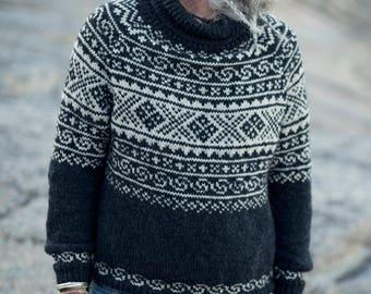 Knitting Pattern - Beautiful Norwegian Setesdal Sweater - Setesdalish - Digital Download - PDF - Pattern -  Norway