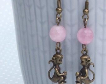 Monkey business earrings - cute monkey earrings