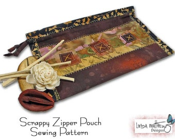 Scrappy Zipper Pouch - PDF Sewing Pattern - Instant Download
