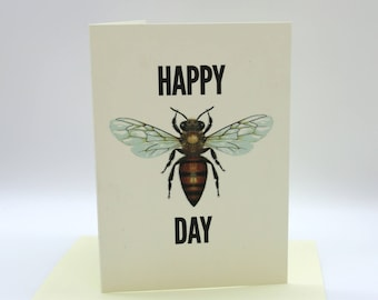 4-pack Happy Bee Day cards
