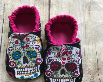 Day of the Dead Baby Booties