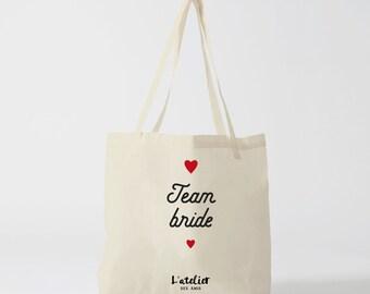 X136Y Tote bag team bride tote bag wedding, cotton bag, shopping bag, gift for friend, gift for wedding, handbag, diaper bag