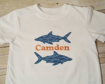 Custom shark shirt,  personalized shark shirt,  unique shark shirt,  shark week shirt