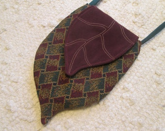 Elven Inspired Pixie Woodland Cross Body Cell Phone Bag with Leaf Flap