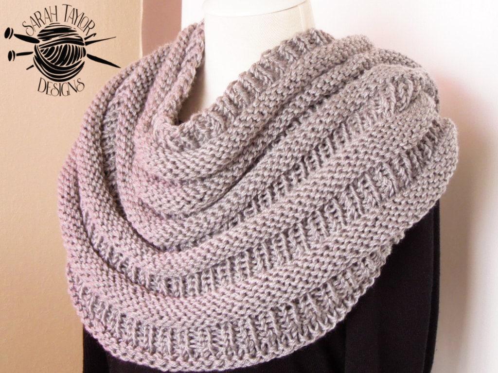 Oversized Scarf Knitting Pattern, Infinity Scarf, Circle Scarf ...