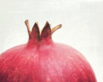Pomegranate Print, Food Photography, Modern Kitchen Decor, Red White Kitchen Art, Minimalist, Dining Room Art - Pomegranate Star