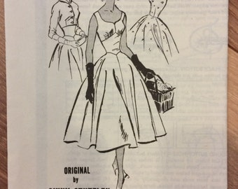 Vintage 1950's Dress and Jacket Bolero Sewing Pattern Prominent Designer Ginny Stutzlen Mail Order Pattern