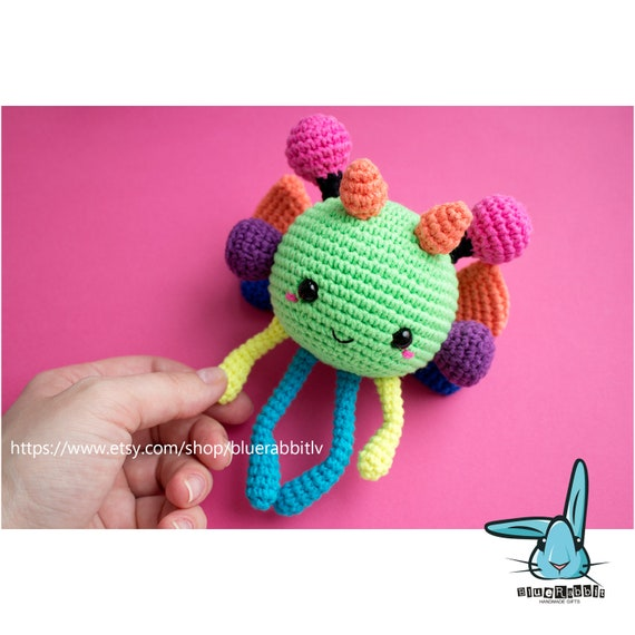 Galaxy Bee Amigurumi Crochet Pattern Developing Baby Toy