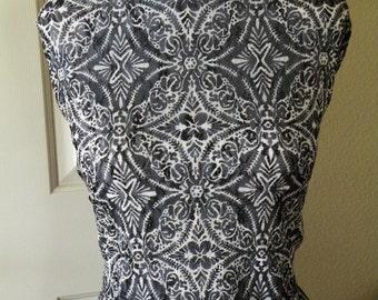 White Black Mesh Lycra Spandex Fabric