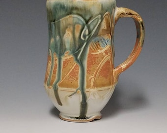 Handmade wheel thrown ceramic mug #1144