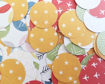table confetti / paper confetti / one inch circles / tabletop / party decoration / wedding / bridal shower / birthday