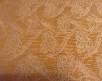 slightly pleated linen flowers and silk 4 coupons
