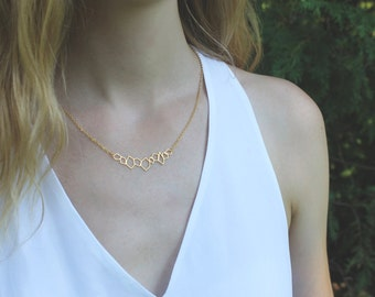 Geometric Rocks Necklace // 16K Gold // Minimal Necklace // Layering Necklace // Abstract Geometric Shapes Necklace