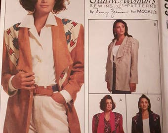McCalls 6959, Creative Jacket Sewing Pattern