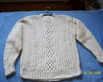 Aran Style Cable Sweater
