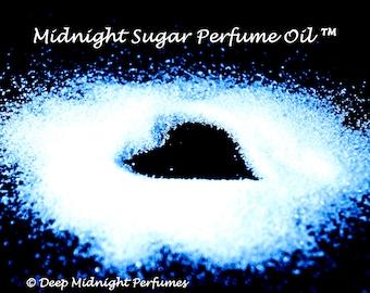 MIDNIGHT SUGAR™ Perfume Oil -Turbinado Sugar Crystals, Sugared Black Amber, Dark Woods, Blackberries, Spice, Bergamot - Sweet, Dark Perfume