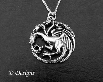 Dragon Necklace, Dragon Gifts, Dragon Charm Necklace, Dragon Pendant, Dragon Jewellery, Gifts for her, Christmas Gift