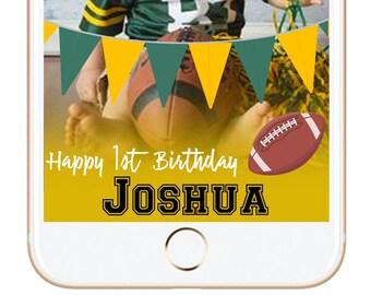 Birthday Football Snapchat filter - geo geotag geofilter superbowl team tail gate tailgate bbq geotag party decor birthday games custom