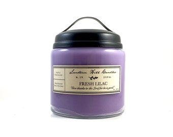 Fresh Lilac Candle - Hand Poured Candle - Large