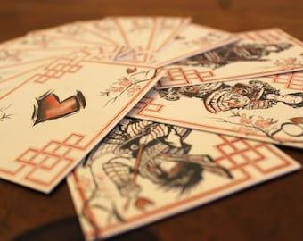 Samurai Card Deck (Handmade)