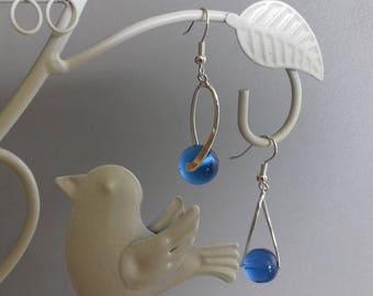 Marine Blue Pearl Earrings