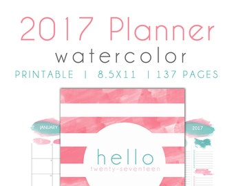 2017  printable planner pages, planner insert pages, to do, year overview,  Agenda, 2017 Calendar, 2017 Weekly Planner, 2017 monthly planner