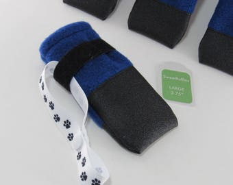 Dog Boots ToughTek NONslip bottom n toe warm fleece no toe seam protect from salt sharp ice FAST shipping FREE lasso to dry & keep together