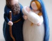 Nativity, fairy tale wool...