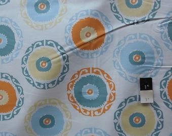Annette Tatum AT62 Bohemian Suzanie Round Orange Cotton Fabric 1 Yard