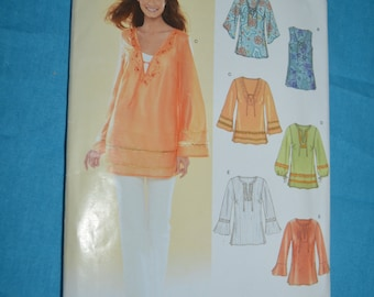 New Look 6485  Misses Tops Sewing Pattern - UNCUT - Size 10 - 22