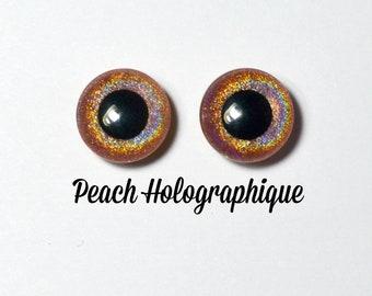 Eyechips 13 mm - Coloris Peach Holographique Taille Pullip Modèles Récents