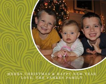 Holiday Card:  Swirly
