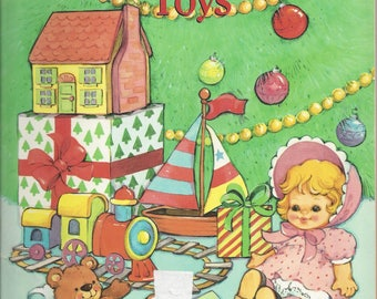 Vintage Christmas Toys Children's Coloring Book, 1990 (2 pages used)