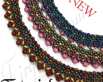 KR041 TUTORIAL -Enchanted Sorceress Necklace - Color Kit - Instructions Included, Beadweaving Pattern Instructions