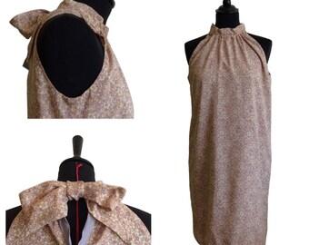 "Robe droite courte- ""Robe Pâquerette"" - T36"