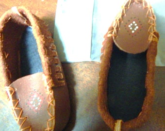 Doll shoes, Moccasins, size 10