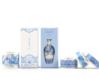 Forbidden City Washi Tape - Qinghua Blue & White Pattern Set
