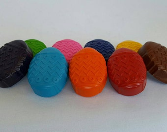 Easter Egg Crayons - Set Of 8 - Easter Baskets - Easter Gifts - Easter Egg Coloring - Party Favors
