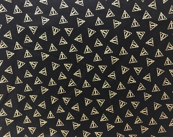 Harry Potter Deathly Hallows fabric, movie fabric, licensed fabric, Harry Potter, book fabric,