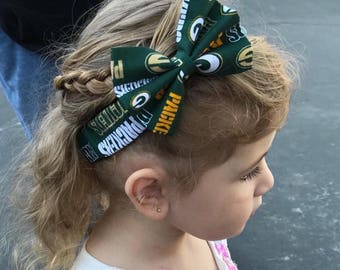 Green Bay Packers Headband- Packers Bow; Baby Headbands; Baby Girl Headband; Baby Headband; Hair Bows; Bow Headband; Newborn Headbands