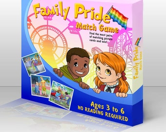 Family Pride Memory Match Game - Kid's Matching Game - Children's Memory Game - LGBT