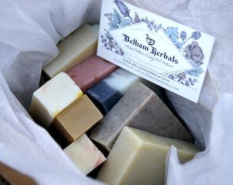 SURPRISE BOX - Free Shipping - Assorted Soap Box, Soap Minis, Soap Samples, Sample Soaps, Mini Soap Bars, Handmade Soap, Wholesale Soap