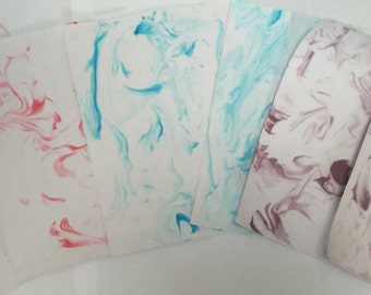 Marble Craft Paper Blue Red Purple Contemporary Scrapbooking supplies creative purposes unique handmade