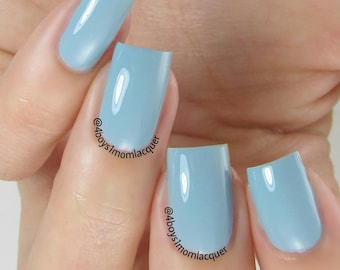 Misty Blue - Blue Creme Nail Polish