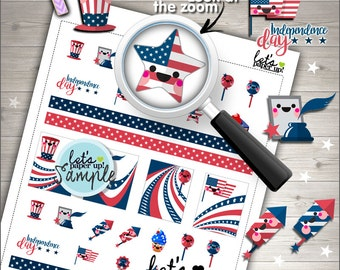 60%OFF - 4th of July, Printable Planner Stickers, Independence Day, Kawaii Stickers, Holiday Stickers, Patriotic Stickers, Memorial, USA