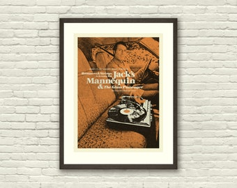 MID CENTURY MODERN Record Player - Jack's Mannequin 18 x 24 Art Print Concert Poster, Lithograph, Car, Hipster, Vintage Style