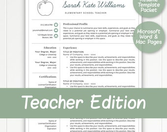 2 page teacher resume template for word pages teacher template resume for teacher - Resume Template For Teachers