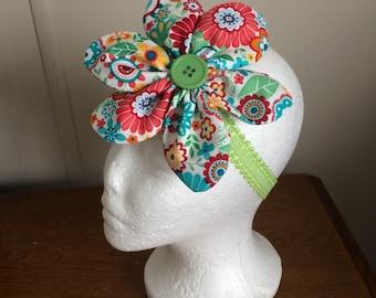 Flower Headband, Adult Headband, Girls Headband, Hair flower, Hair Accessories, Girls Flower Headband, Fabric Flower