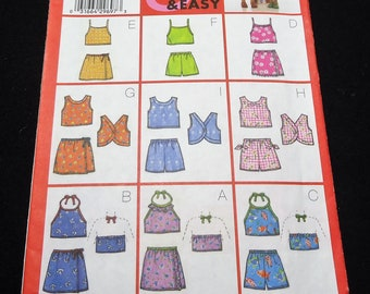 Butterick Children's/Girls' Top, Skirt, & Shorts Pattern 6101 Size 6, 7, 8 Fast And Easy