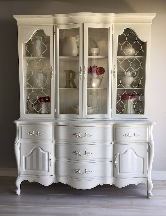 a with and paint chalk fresh goodwill antique girl white shiplap in garage farmhouse img the makeover china cabinet for look